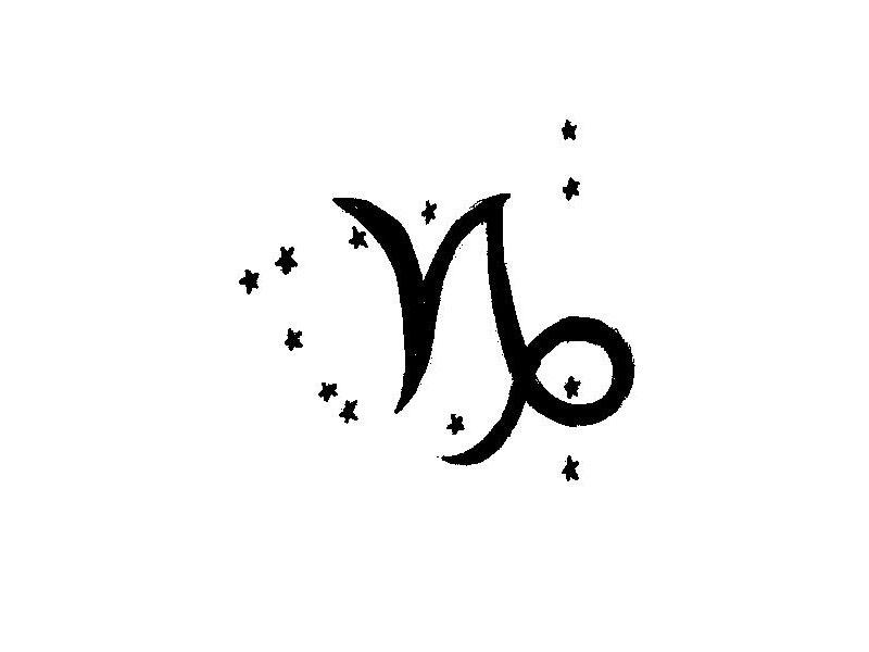 Tiny Capricorn Zodiac Tattoo On Wrist