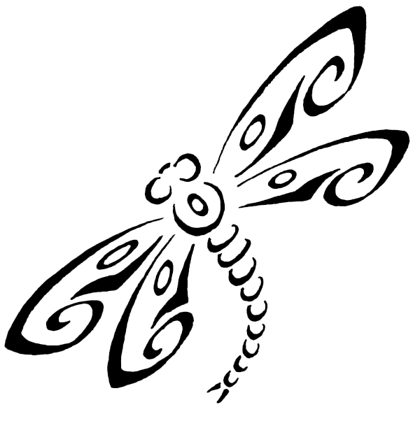 A Fine Dragonfly Stencil With Flower Stencils and Many
