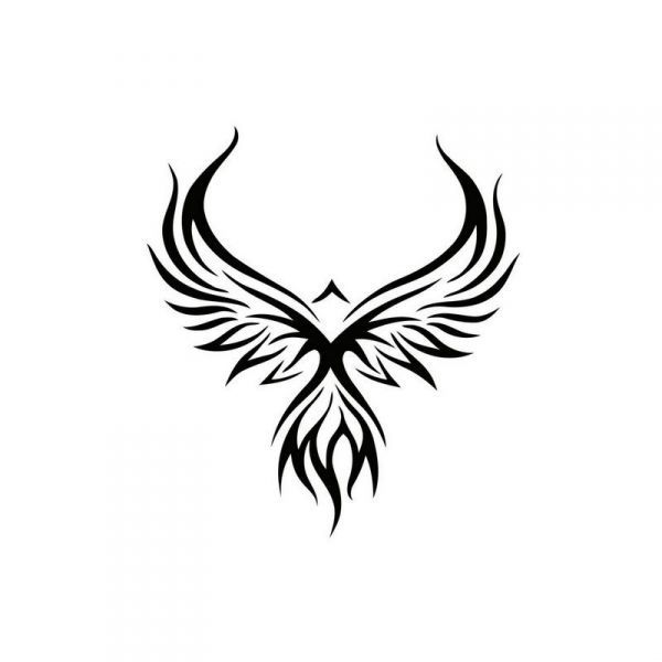 tribal phoenix tattoo design. Black Bedroom Furniture Sets. Home Design Ideas