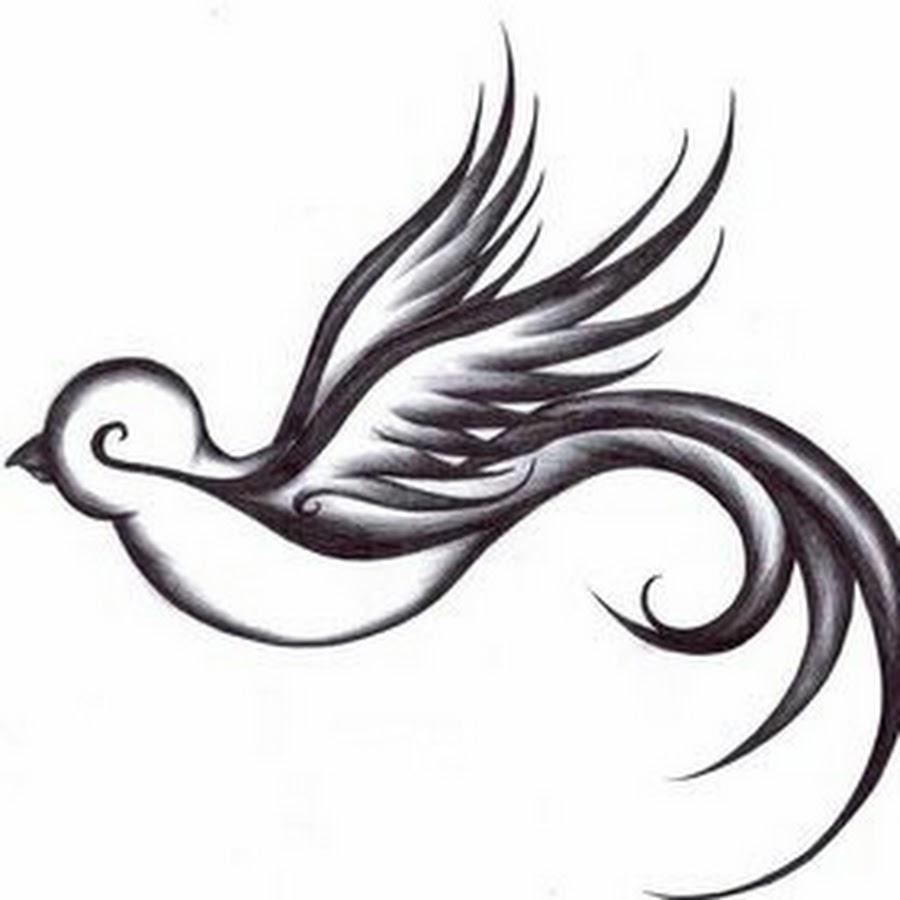 Tribal sparrow tattoos