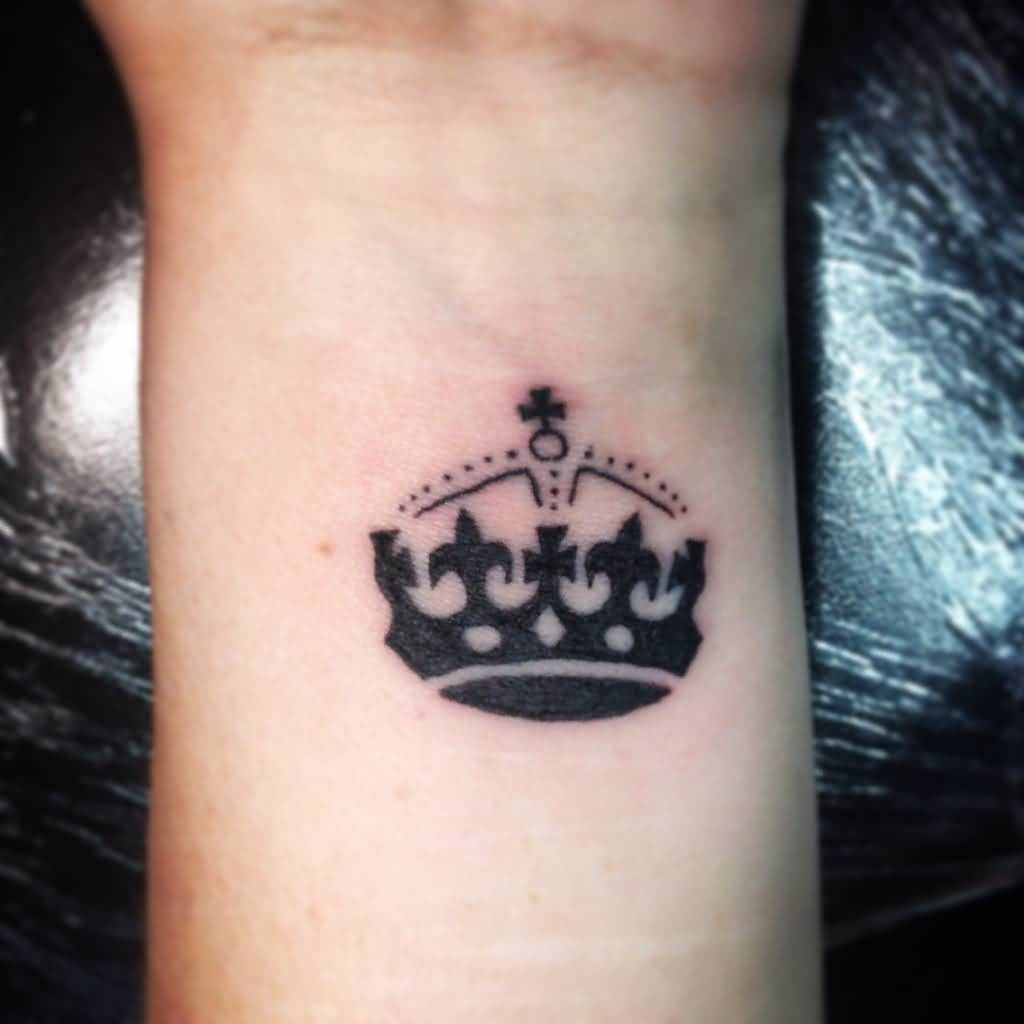 Wrist Crown Tattoo Idea For Girls
