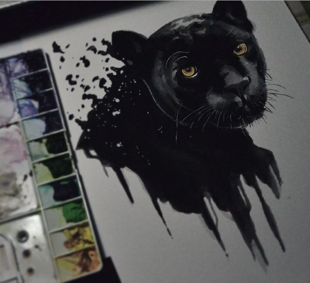 yellow eyes panther tattoo design. Black Bedroom Furniture Sets. Home Design Ideas