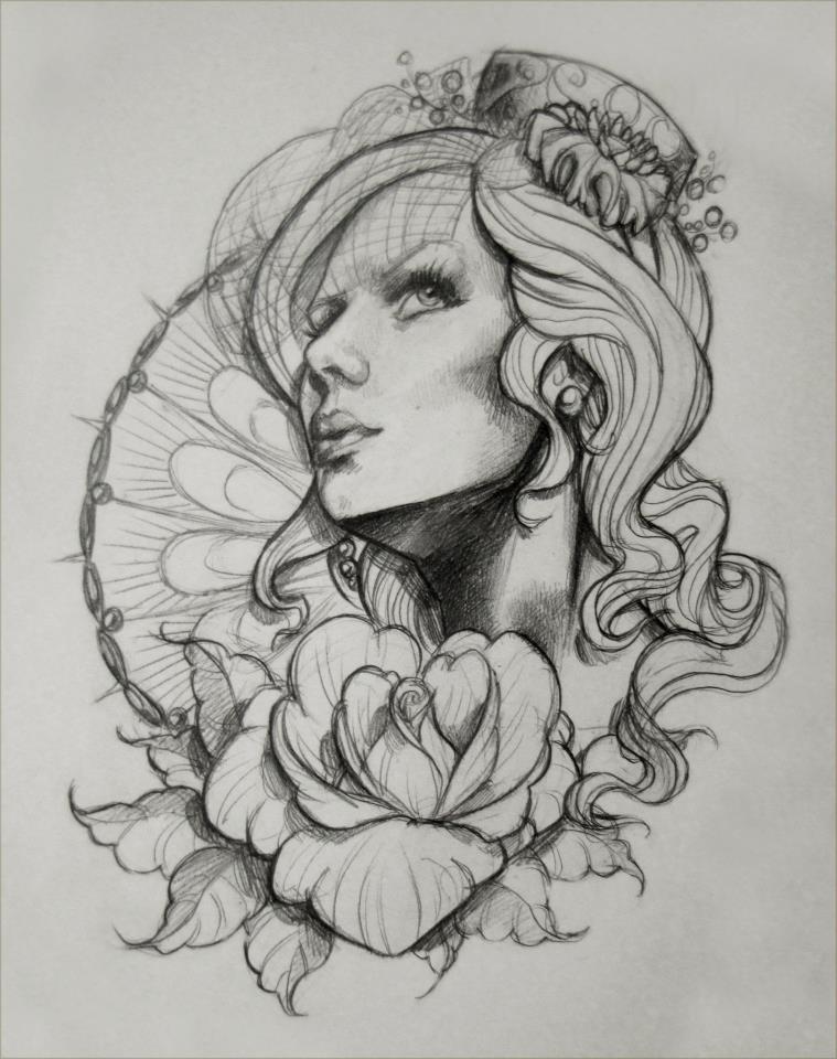 9ae5069fc Zombie Gypsy Girl Tattoo Design