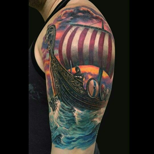 Ship tattoo images designs for Beautiful half sleeve tattoos