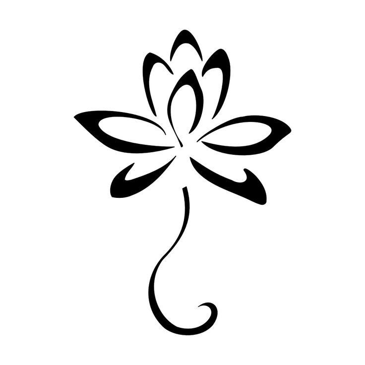 Outline lotus flower tattoo design black outline lotus flower tattoo design sample mightylinksfo