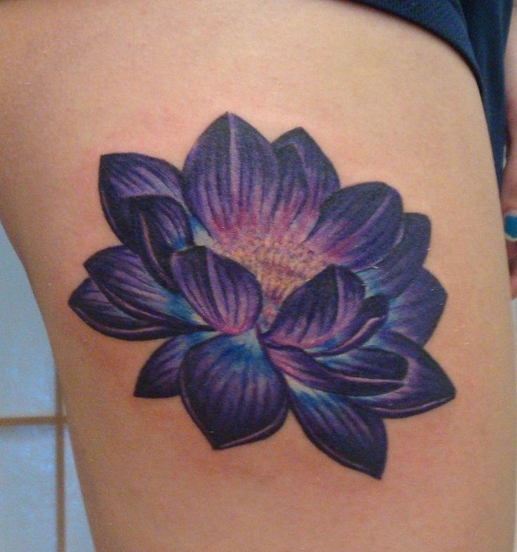Blue lotus flower tattoo on lowerback blue lotus flower tattoo on side rib mightylinksfo