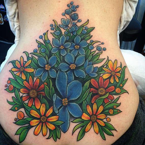 Flower Back Tattoo Ideas: Flower Tattoo Images & Designs