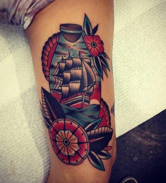 Tattoo Ideas Classic Ships Piercing Ideas Tattoo: Sailing Ship Tattoo