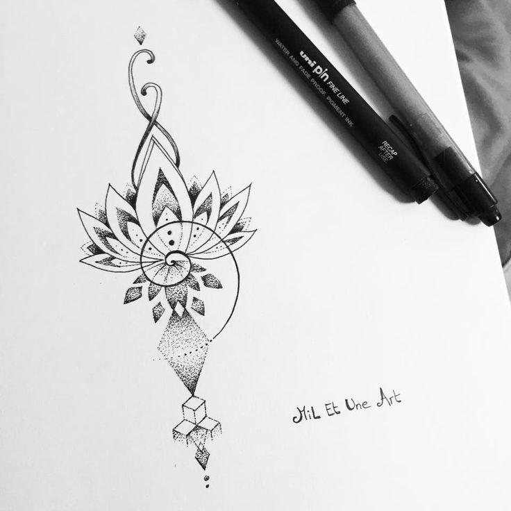 Lotus And Om Tattoo Design