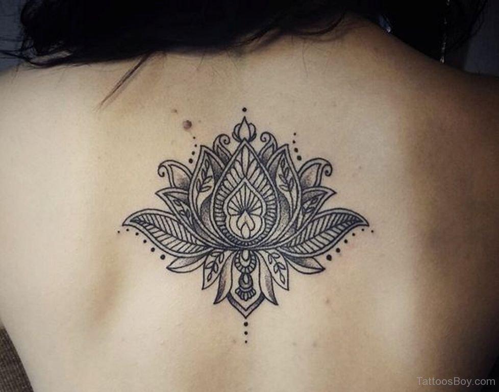 362feb5e8 Girl Upper Back Lotus Flower Tattoos