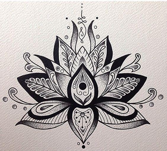 Black outline lotus flower tattoo design grey and black lotus flower tattoo design mightylinksfo