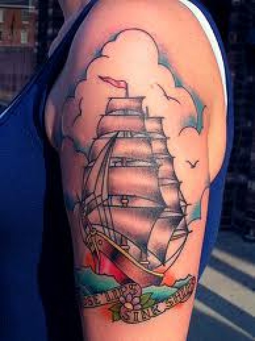 ship tattoo images designs