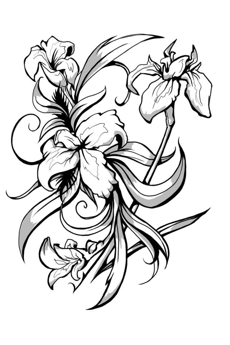 Grey lily flower tattoo design lily flower tattoo design izmirmasajfo