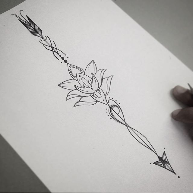 Lotus Flower Tattoo Design Idea