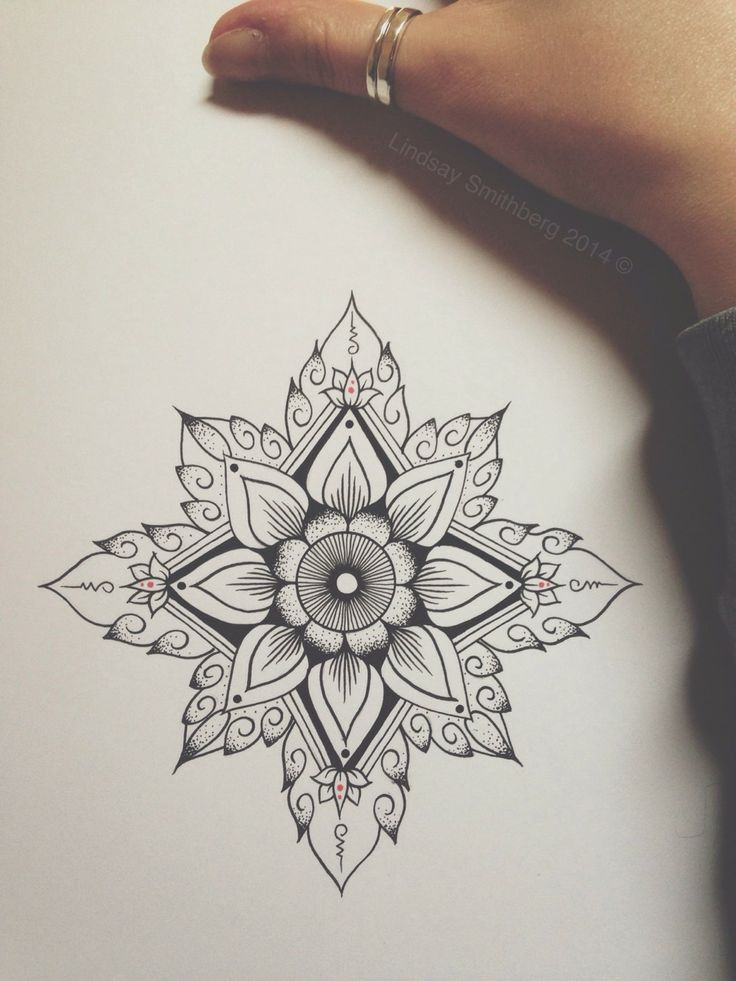Mandala Flower Tattoo Design