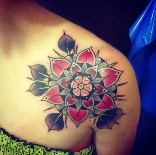 Black Flower Watercolor Art By Tae Lee: Flower Tattoo Images & Designs