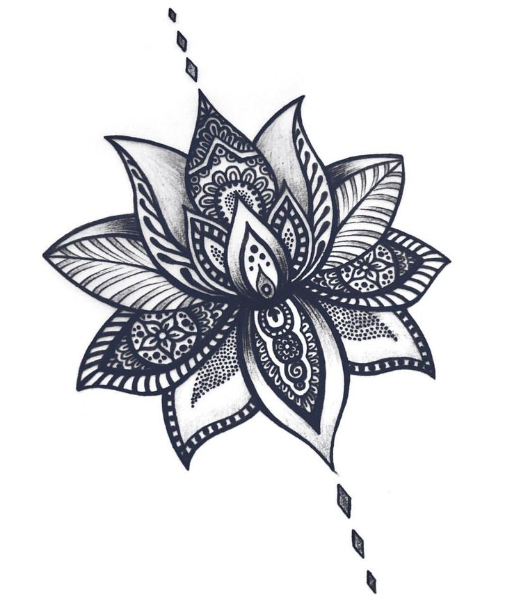 Mandala lotus flower tattoos design mightylinksfo