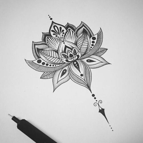 Mandala Lotus Tattoo Design