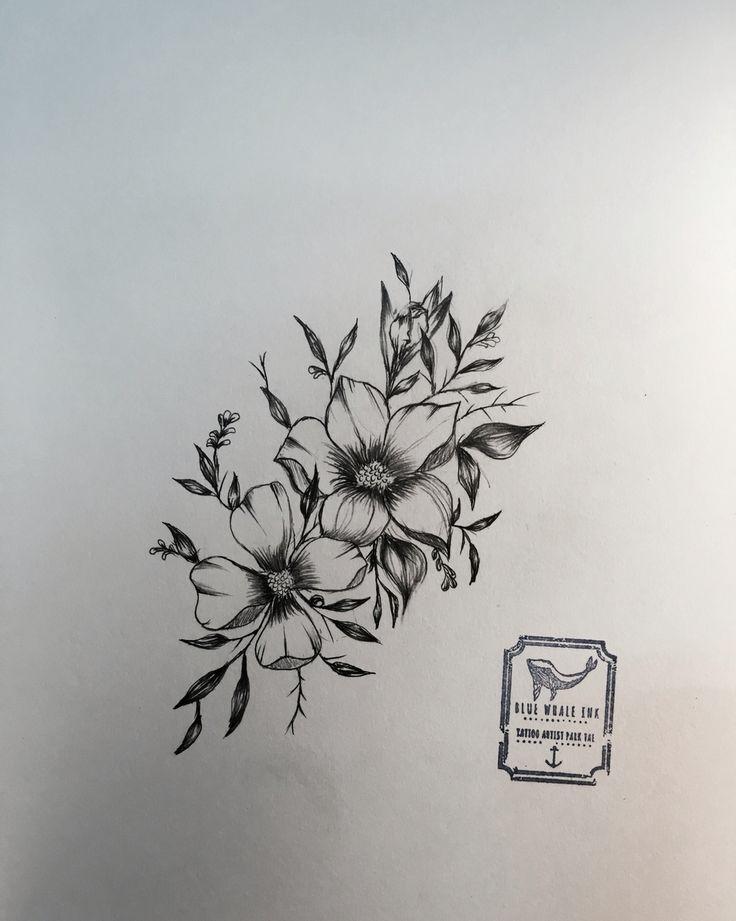 Nice Flowers Tattoo Design Sample