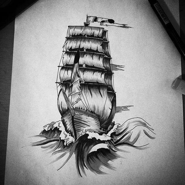 the black pearl ship tattoo images galleries with a bite. Black Bedroom Furniture Sets. Home Design Ideas