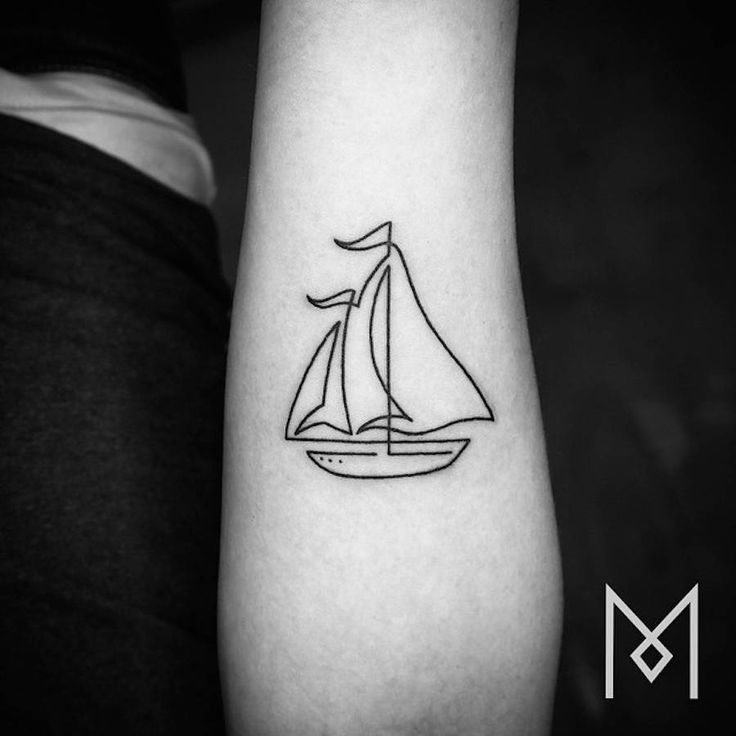 Ship Tattoo Small: Ship Tattoo Images & Designs