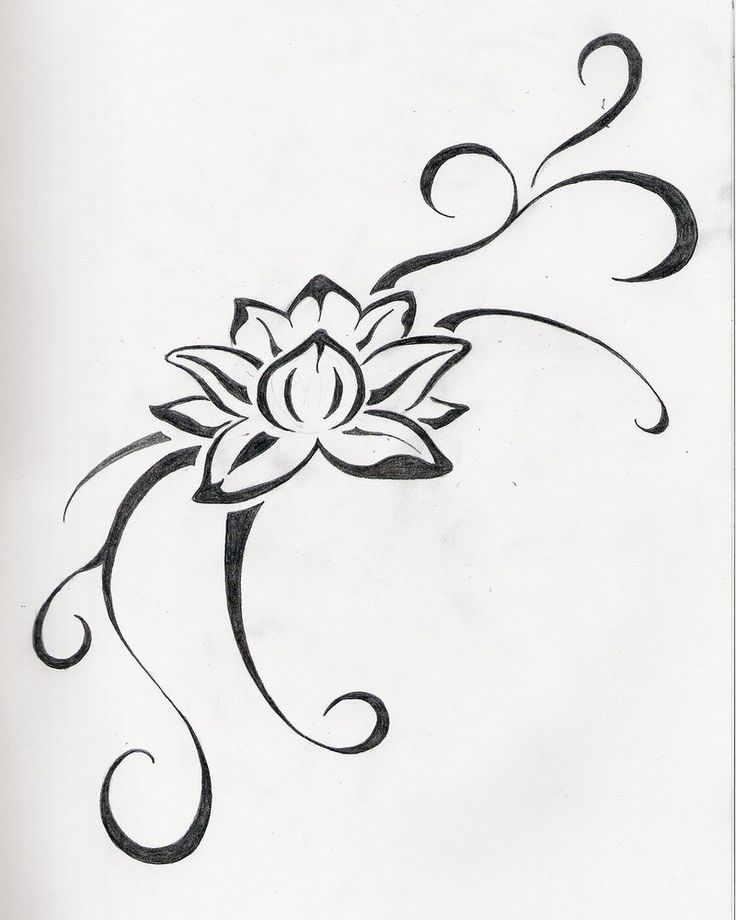 Outline lotus flower tattoo design tribal lotus flower tattoo design mightylinksfo Gallery