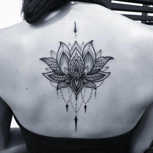 Upper back lotus flower tattoo for girls mightylinksfo