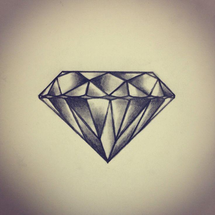 Amazing Diamond Tattoo Design Sample