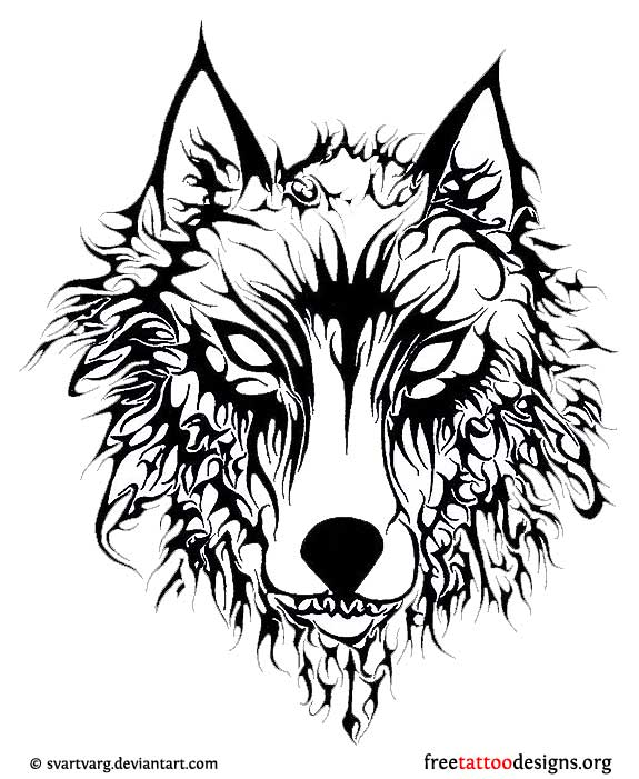 Nordic wolf tattoo designs