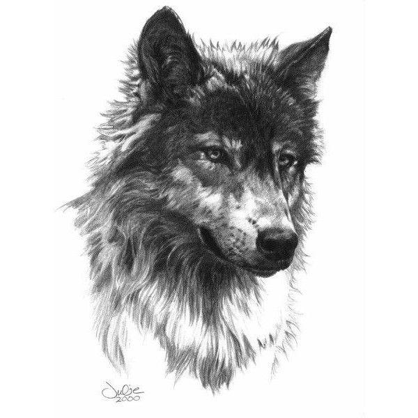 Grey And Black Wolf Head Tattoo Design