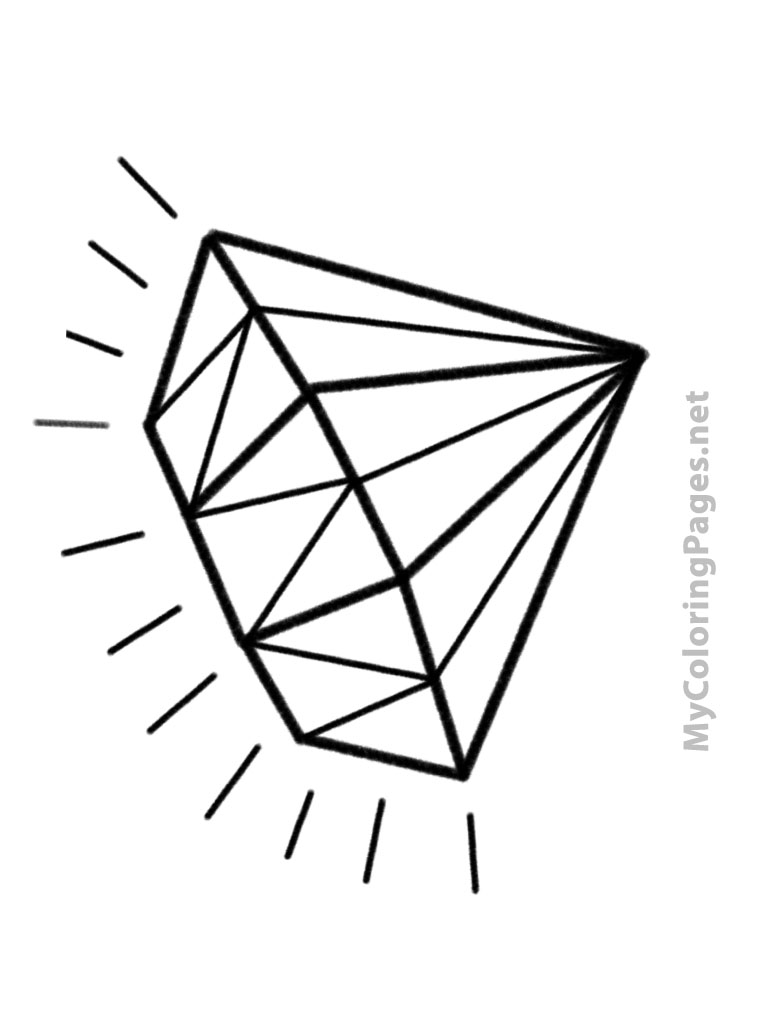 Diamond traditional outline photo 2019