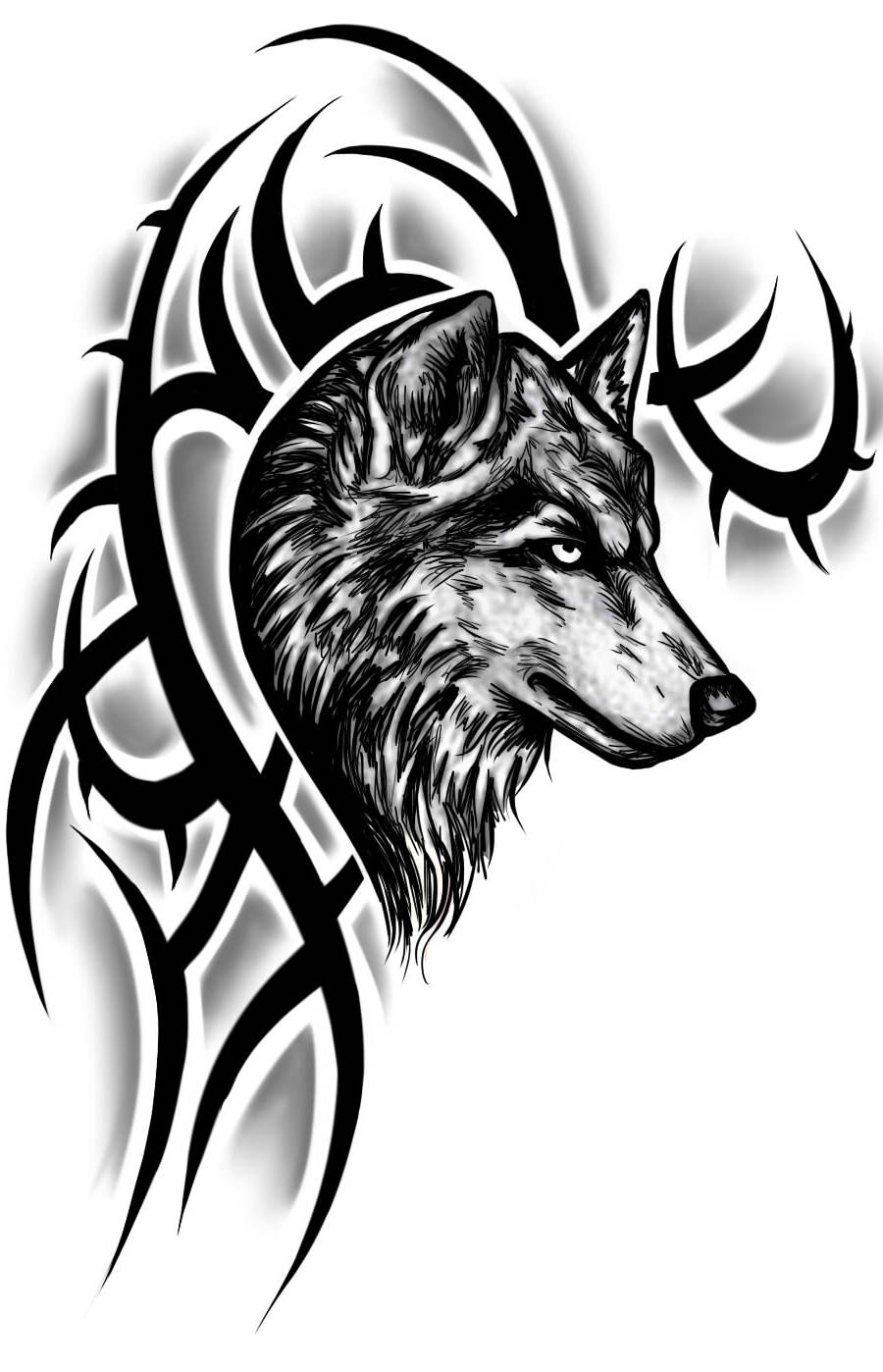 wolf tattoo images designs. Black Bedroom Furniture Sets. Home Design Ideas