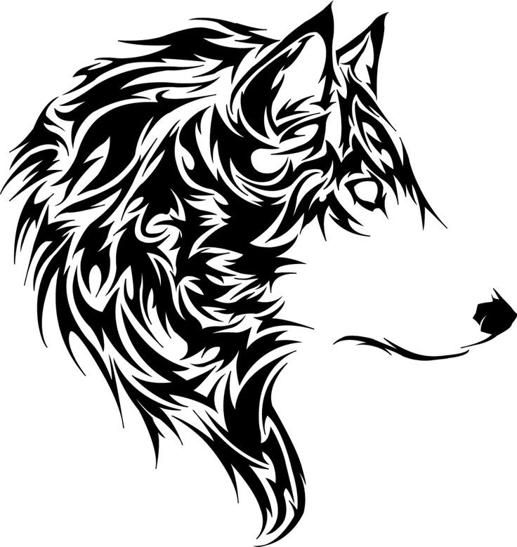 729ab5d3c03e5 Nice Tribal Wolf Head Tattoo Design