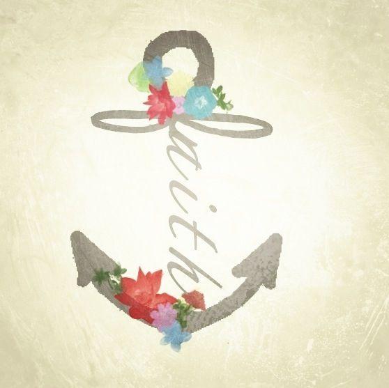 Faith Anchor Tattoo Design
