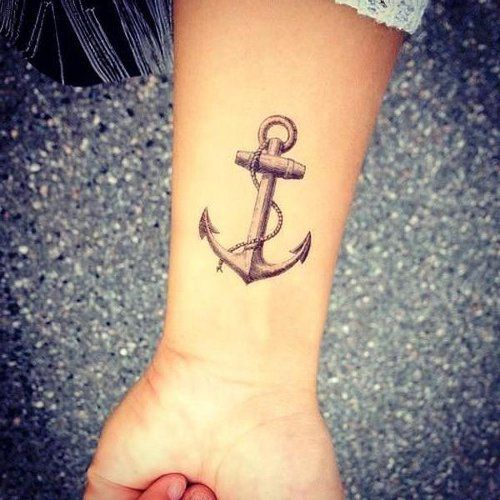 fbd897712 Rope Abstract Anchor Tattoo On Left Forearm