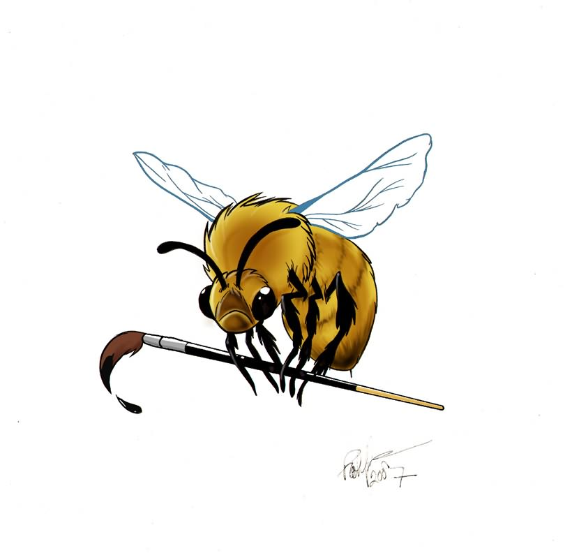 bumblebee tattoo design. Black Bedroom Furniture Sets. Home Design Ideas