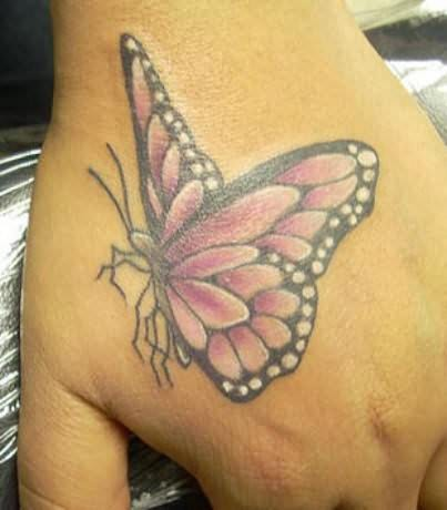 Buterfly Tatto on One Response To    Colorful Butterfly Tattoo On Hand