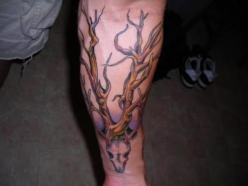 Recently Added Deer Skull Tattoo