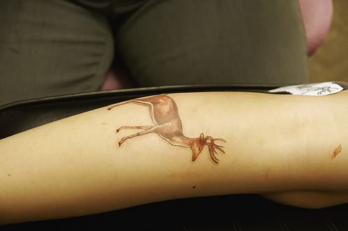 Small Deer Tattoo