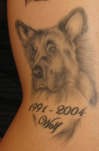 Dog tattoo memory for Tattoos in remembrance of dog