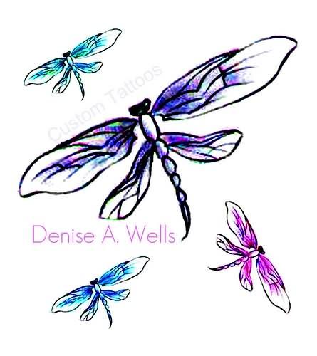 dragonfly tattoos designs. Black Bedroom Furniture Sets. Home Design Ideas