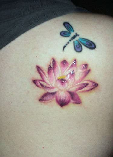 Lotus Flower Tattoo With Dragonfly: Dragonfly Tattoos : Page 17