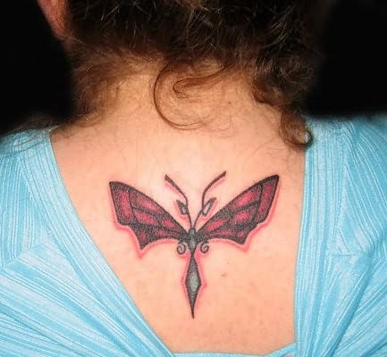 Women Back Dragonfly Tattoo