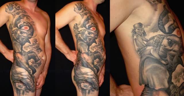 Elephant Drawing Tattoo Elephant Tattoo For Full Body