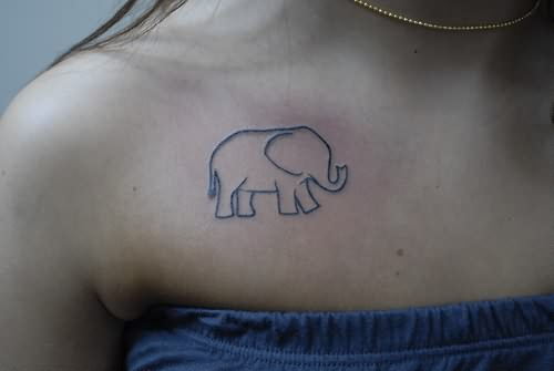 Tiny elephant symbol tattoo for Tiny elephant tattoo