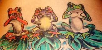 frog tattoo images designs. Black Bedroom Furniture Sets. Home Design Ideas