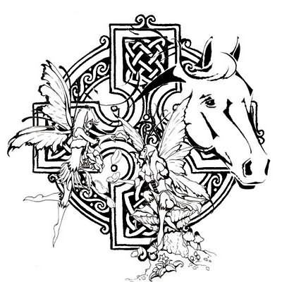 Celtic Pisces Tattoo Celtic Horse Tattoo