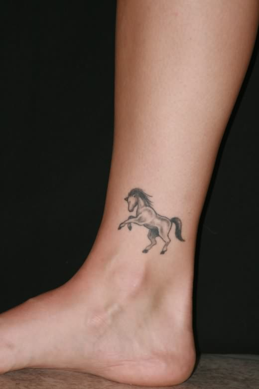 Girls Horse Ankle Tattoo New Style For 2012