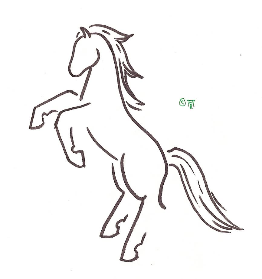 Jumping horse tattoo design free for Horse jumping tattoos