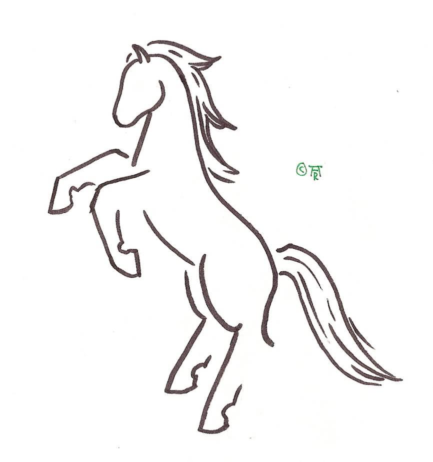 Jumping Horse Logo Design Tattoo